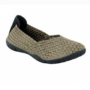 Corkys 9 Sidewalk Metallic Stretch Flats Shoes